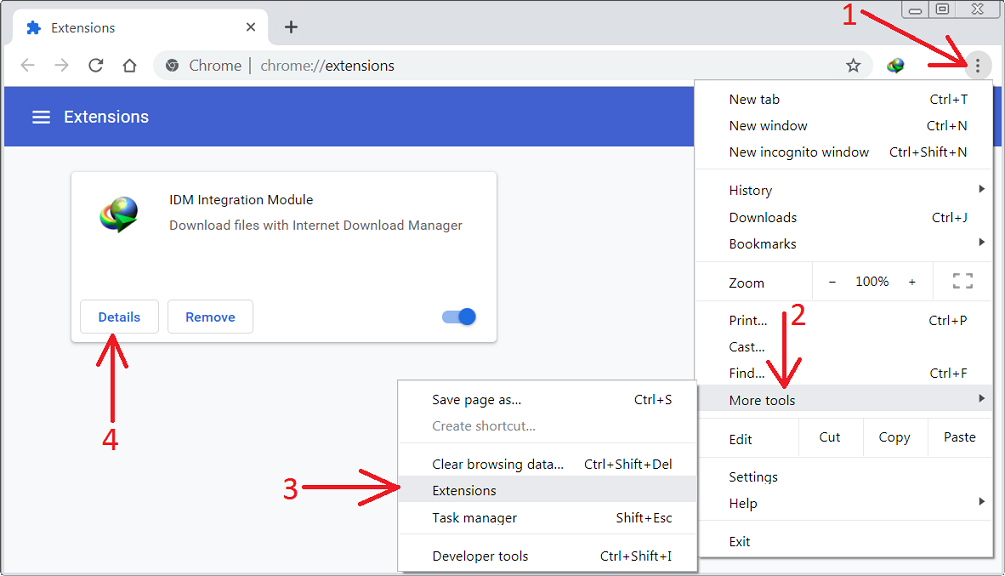 Internet-Download-Manager Patch extension for chrome