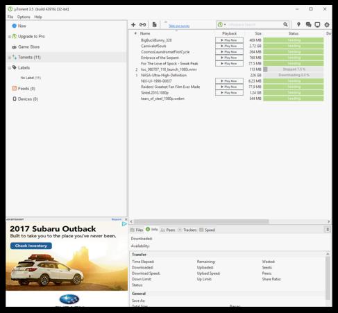 uTorrent pro registration key